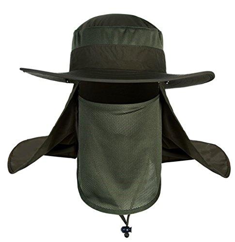 Herren Outdoor Sonnenhut Sommer Fischerhut UPF 50+ schnell trocken Schirmmütze mit Nackenschutz und Maske Atmungsaktiv Sonnenschutz Anglerhut