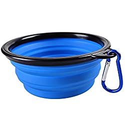 Generic Dog Folding Collapsible Feeding Bowl Silicone Water Dish 0333 Cat Portable Feeder Puppy Pet Travel Bowls
