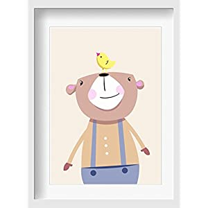"""Bilder Kinderzimmer Poster""""Bruno Bär"""" – hochwertiger Druck auf Qualitäts-Papier, pastellfarben (ungerahmt) …"""