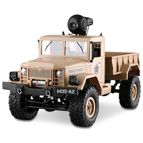 LBLA Ferngesteuerte Auto Kamera 480P HD WiFi FPV 1:16 Skala Geländewagen Fernbedienung Auto 2,4 Ghz 4WD (Enthaltene 2 Kinds Räder)