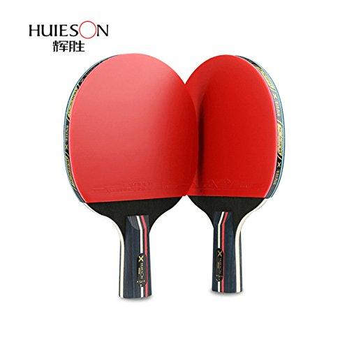 3Star Table Tennis Double Shot Pure Wood Boden Tisch Tennis Schläger Tischtennis Paddel, short