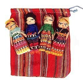Worry Dolls - Quatre poupées Worry Large Pouch