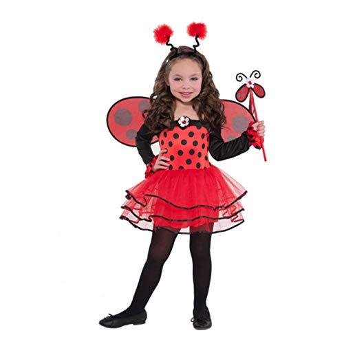 amscan 997655 Kinderkostüm Ballerina-Käfer, rot/schwarz, 3-4 Jahre (Billig Ballerina Kostüme)