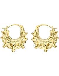 Boucles d'oreilles créoles Femme - E-10643 - Or jaune (9 carats) 0.7 Gr