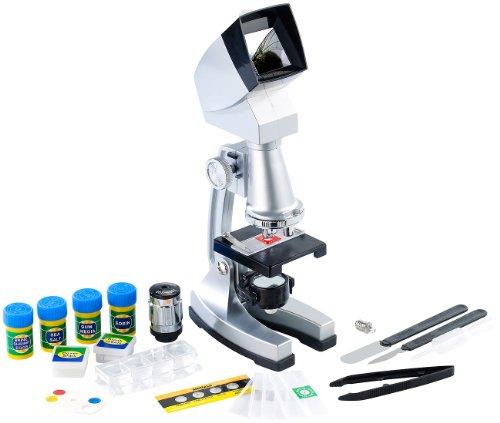 Playtastic Kinder Mikroskop: Mikroskopie-Set mit Mikroskop 50-1200x und Garnelenzucht (Mikroskopie...