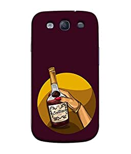 PrintVisa Designer Back Case Cover for Samsung Galaxy S3 Neo (Hand bangle with wine bottle)