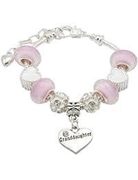 Jewellery Hut Granddaughter 'You Leave A Sparkle Wherever You Go' Children's Charm Bracelet Gift Box Set