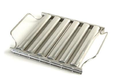 Charcoal Companion Hotdoghalter, rostfreier Stahl, silber, 4,7 x 22,86 x 21,41 cm, CC3039