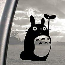 Ritrama - Pegatina para ventanas de coches, diseño de Totoro de Studio Ghibli, color negro