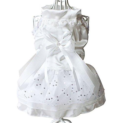 Eastlion Hunde Bow-knot Kleid Ballettröckchen Kleid Rock Haustier Hundekatze Prinzessin Kleidung Weiß S