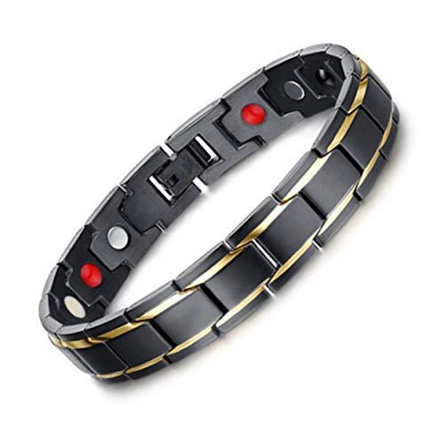Tree-on-Life Europäische Mode persönlichkeit Stil schmuck Titanium Stahl Gold eingelegten Magnet Gesundheit Armband männer Frauen Armband