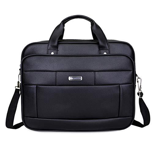 Borsa da viaggio in pelle pu impermeabile con borsa da viaggio leggera da uomo black