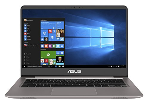 Asus Zenbook UX3410UA-GV640T 35,56 cm (14 Zoll mattes FHD) Notebook (Intel Core i7-7500U, 16GB RAM, 256GB SSD, 1TB HDD, Intel HD Graphics, Win 10) grau
