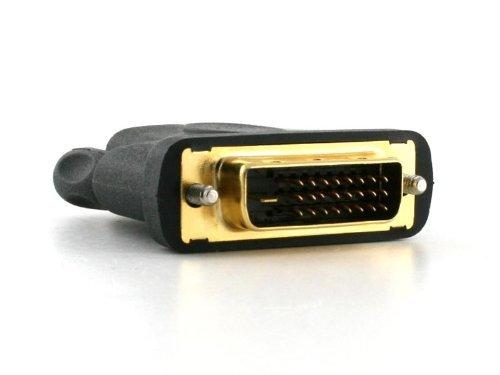 Cablesson HDMI weiblich auf DVI / DVI-D männlich Adapter / Konverter - Schwarz - goldbeschichtet