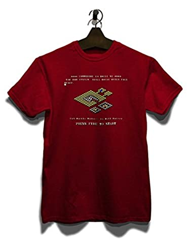 Marble Madness T-Shirt bordeaux-maroon S