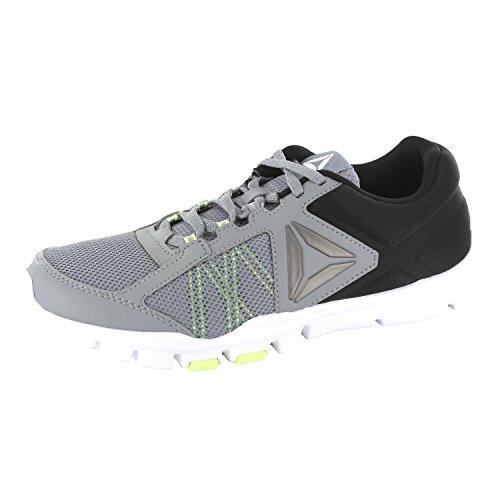 Reebok Yourflex Train 9.0 Mt, Chaussures de Fitness Homme Gris (Flint Grey/Electric Flash/Black/White/Pewter)
