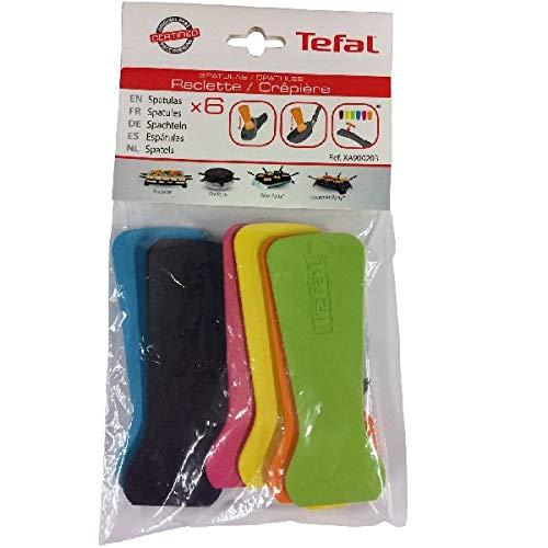Tefal XA900203 - Spatole per Raclette, Multicolore, 6 pezzi
