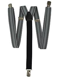 Tirantes Formal 'Y-Forma' con 3 Clips (25mm) y Negro Trasero