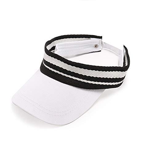 HHUT Hut - Sommer Kinder Leere Kappe 1-3-5 Jahre alt Junge Baby Sonnenblende Baseball Cap - 48-52cm Cap (Color : White)