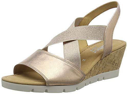 Gabor Shoes Damen Comfort Sport Riemchensandalen, Mehrfarbig (Corallo (Kork) 64), 42 EU