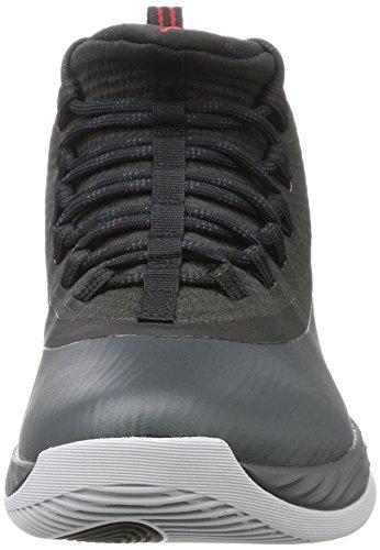 Nike Jordan Ultra Fly 2, Scarpe da Basket Uomo Nero (Black/University Red/Anthracite)