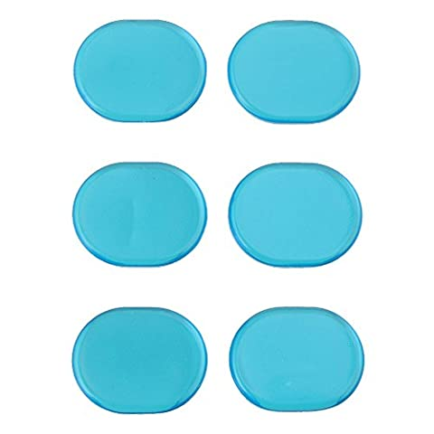 Yibuy Silicone Silicone Bleu Oval Forme Silencieux Silencieux pour Groupe Rock (Mute Set)