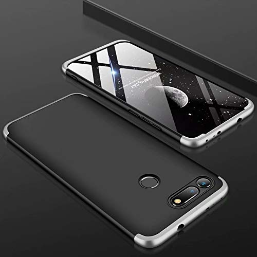 MYLB Funda Samsung Galaxy J7 Duo, protección Ultrafina de 360 Grados para el Cuerpo [3 en 1] Estuche rígido PC Desmontable, Adecuado para Samsung Galaxy J7 Duo (Negro + Plata)