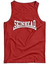 LaMAGLIERIA Camiseta de Tirantes Hombre Skinhead White Print - 100% algodòn
