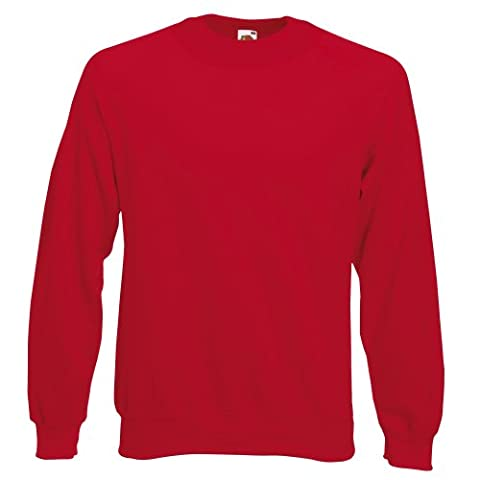 Sweatshirt Fruit Of The Loom pour enfant (5-6 ans) (Rouge)