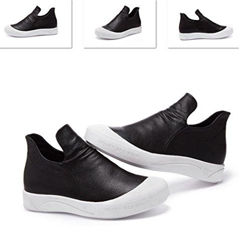Autunno e Inverno stivali versione coreana di soffietti pedale ladies alta per aiutare piatto fondo morbido comode scarpe casual black