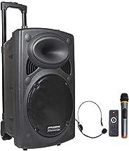 DYNASONIC - Dynapro 12 TWS - Altavoz Inalámbrico Sistema Audio Profesional Megafonia Portatil TWS | Lector USB