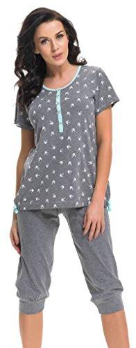 dn-nightwear - Ensemble de pyjama spécial grossesse - Femme Grau Mint