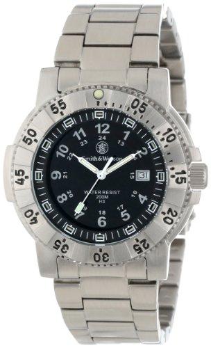 smith-wesson-mens-43mm-steel-bracelet-case-swiss-quartz-black-dial-analog-watch-sww-357-ss