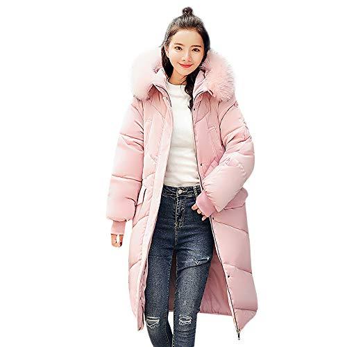 Damen Bekleidung Damen jacken Herbst Grosse grössenmantel plüschjacke Winter Winterjacke Solide Lässig Dicker Winter Slim Down Lammy Jacke (Rosa,XL) Slim-duffle