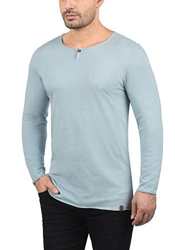 Blend Ireno Herren Longsleeve Langarmshirt mit Rundhals-Ausschnitt Aus Hochwertiger Baumwollmischung Soft Blue (74641)