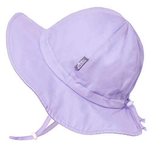 Jan & Jul Baby Mädchen Baumwolle Sonnenhut 50 LSF, Größenverstellbar Guter Sitz (S: 0-6 Monate, Lavendel) - 0 Von Hüte Monate Baby 6 Junge