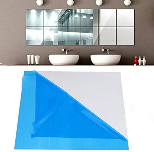 Gshy - Pegatina de Pared con Espejo, extraíble, Reutilizable, para decoración de salón, Dormitorio, baño, 15 x 15 cm, 9 Unidades