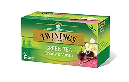Twinings Green Tea Cherry & Vanilla 25 Tea Bags, 42.5g