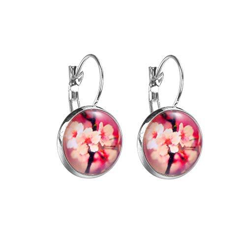 e Silber Einfachen Stil Starry Serie Blume Kristallglas Konvex Kristall Teardrop Minimalistischen Cabochon Durchmesser 1,6 cm (D) ()