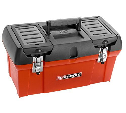 BP.C24 FACOM 600MM/24IN PLASTIC TOOL BOX PLASTIC REMOVABLE TRAY 2 STORAGE COMPARTMENTS ON THE COVER -