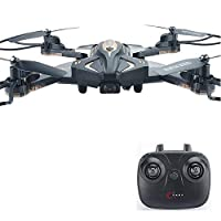 POBO RC Drone Foldable 2.4GHz 6-Axis WiFi Remote Control 4CH Quadcopter Optical Flow Positioning with FPV HD Camera LED Light PBL600