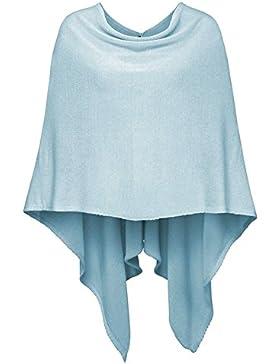 Sueños de cachemira para mujer Poncho capa de algodón Jersey Knit Solid SHORT Wrap–varios colores