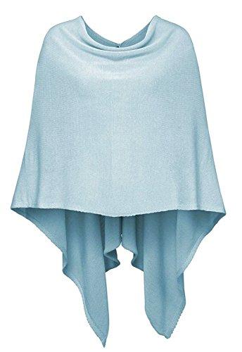Cashmere Dreams Poncho-Schal aus Baumwolle - Hochwertiges Cape für Damen - XXL Umhängetuch und Tunika - Strick-Pullover - Sweatshirt - Stola für Sommer und Winter Zwillingsherz (hbl)