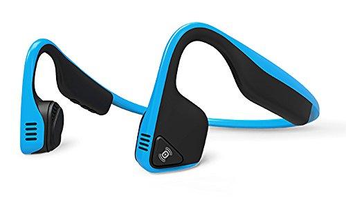 AfterShokz Trekz Titanium Bone Conduction Cuffie Audio Bluetooth a Conduzione Ossea per Attività Sportiva con Microfono, Blu Oceano