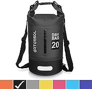 arteesol Waterproof Bag 5L/10L/20L/30L Dry Bag Rucksack with Double Shoulder Strap Backpack for Swimming Kayak