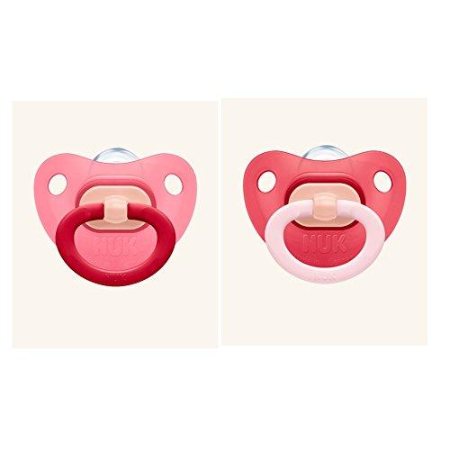 NUK Schnuller Silikon-Mode-Set 2, Farbe rot, BPA-frei - Größe 2 (6-18 Monate)