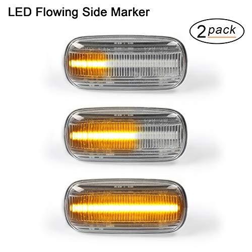 LED indicatore laterale, Gempro scorre LED colore ambrato laterale lampade 2 pezzi 18 SMD LED con non-polarity errore CAN-BUS OE portatile lenti trasparenti per A3/S3 A4/S4 A6/S6