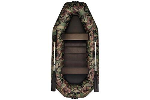 Aquamania A-300T Schlauchboot | Doppelboot | Boot mit Rudern | Boot zum Fischen | Paddelboot | Boot für die Jagd auf dem Wasser | Hohe Qualität, Zuverlässigkeit, Garantie vom Hersteller! (Camouflage)