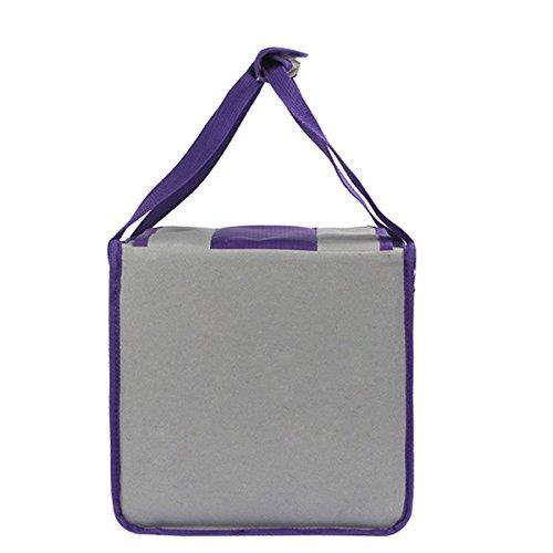Outdoor Originalità Impermeabile Facile Da Pulire Quadrato Borsa Per Il Picnic Borsa Termica ,Red02 Grey