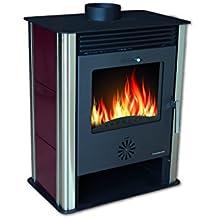 Hosseven, estufa de leña FOCUS kW 8, bio clase eficiencia energética A+ eco calefacción